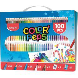 Color' Peps 100 Piece Colouring Set & Carry Case