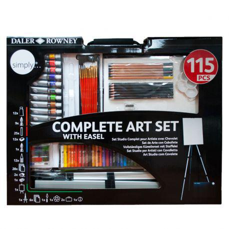 Simply Complete Art Set With Easel (115 Pcs)