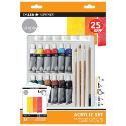 Simply 25-Piece Acrylic Set