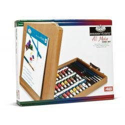 All Media Easel Artist Set (48 Pcs)