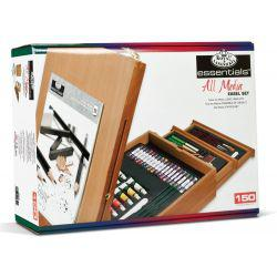 Essentials All Media Easel Artist Set (150 Pieces)