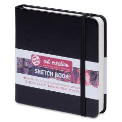 Art Creation Hardback Sketchbook: Black (12 x 12cm)