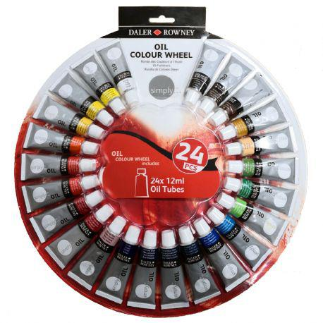 Simply Oil Colour Wheel (25 Pcs)