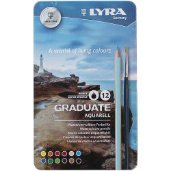 Graduate Aquarell Watercolour Pencil Tin of 12