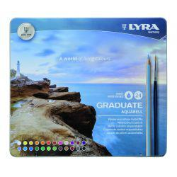 Graduate Aquarell Watercolour Pencil Tin of 24