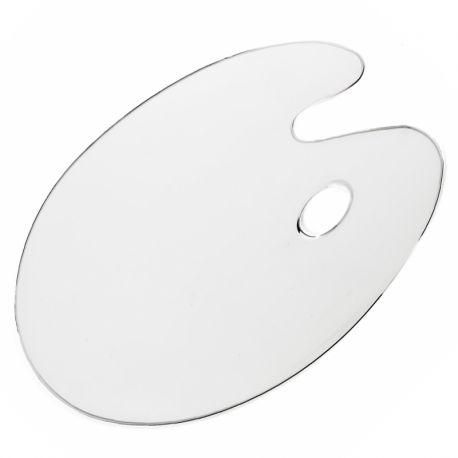 Loxley Clear Plastic Kidney Shaped Palette