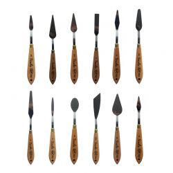 RGM Scuola Wooden Handle Artist Palette Knives