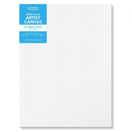 Premium Quality Artist Canvas Triple Packs