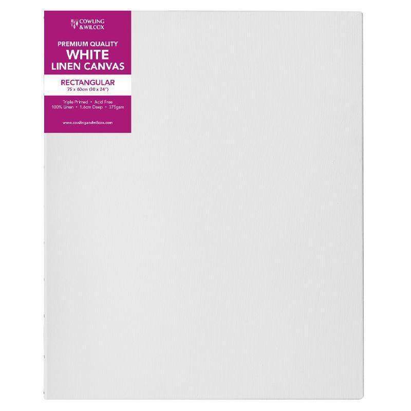 Premium Quality White Linen Canvas