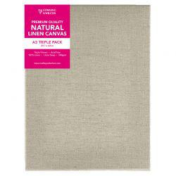 Premium Quality Natural Linen Canvas Triple Packs