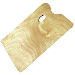 Wooden Oblong Palette (Large, 35 x 25cm)