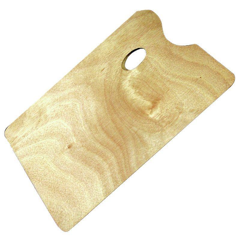 Wooden Oblong Palette (Large, 35 x 25cm)