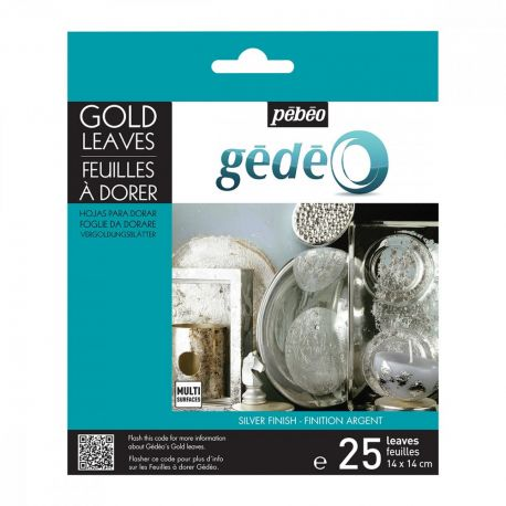 Gedeo Silver Gilding Leaves (Pack of 25)