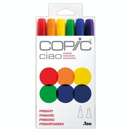 Ciao Marker Set of 6: Skin Tones