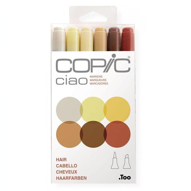 Ciao Marker Set of 6: Skin Tones