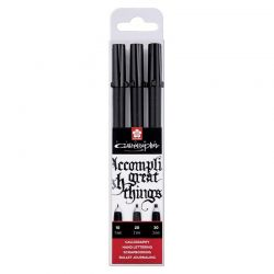 Pigma Calligrapher Black Pen Set of 3