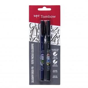 Fudenosuke Calligraphy Black Brush Pen (Pack of 2)