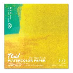 """Fluid Hot Pressed Watercolour Pad: 6 x 6"""" (300gsm)"""