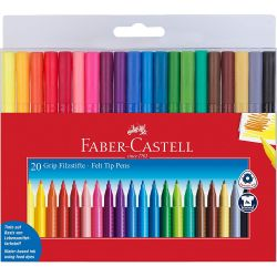 Grip Felt Tip Pen Set of 20