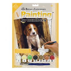 Junior Painting By Numbers Set: Beagle Puppy