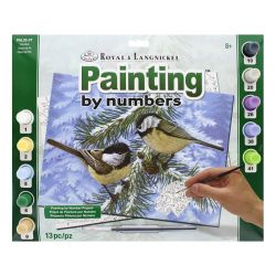 Adult Painting By Numbers Set: Pine Birds