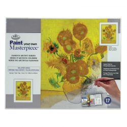 Masterpiece Painting By Numbers Set: Vase of Fifteen Sunflowers