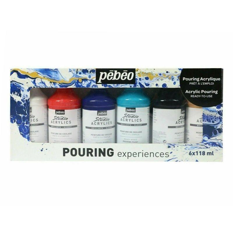 Pouring Experiences Studio Acrylic Paint Set (6 x 118ml)