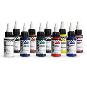 High Flow Acrylic Ink Set (10 x 30ml)