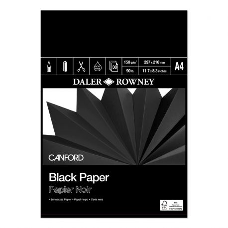 Canford Black Paper Pads