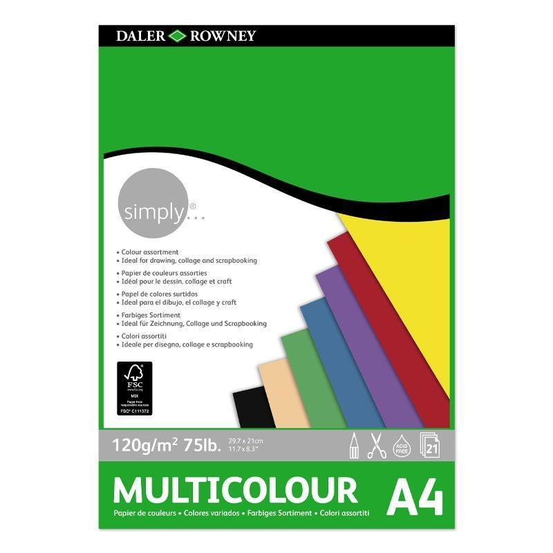 Simply Multicolour Pad (A4)