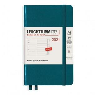 Leuchtturm 2021 A4+ Weekly Planner & Notebook: Hard Cover (Black)