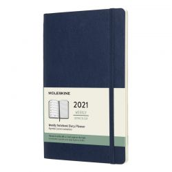 2021 Large Soft Cover Weekly Planner & Diary (Blue)