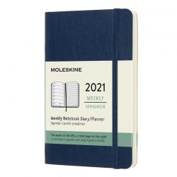 2021 Pocket Soft Cover Weekly Planner & Diary (Blue)