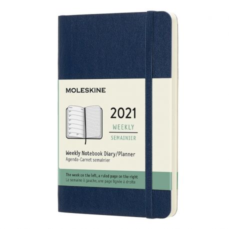 2021 Extra Large Soft Cover Weekly Planner (Black)