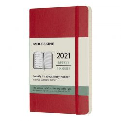 2021 Pocket Soft Cover Weekly Planner & Diary (Red)