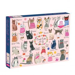 Phat Dog Cool Cats A-Z 1000 Piece Foil Stamped Puzzle