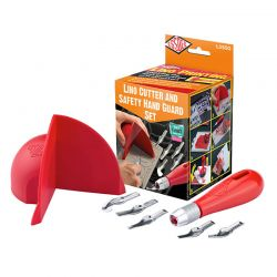 Lino Cutter & Safety Hand Guard Set