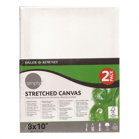 """Simply Stretched Canvas Twin Pack (8 x 10"""")"""