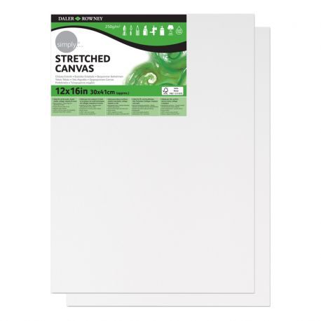 """Simply Stretched Canvas Twin Pack (12 x 16"""")"""