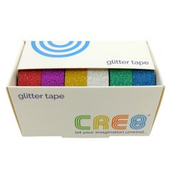 CRE8 Glitter Tape Set 6 Assorted Colours