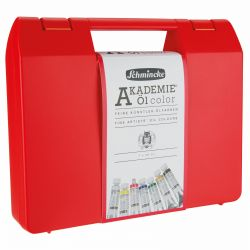 Akademie Oil Colour Red Box Set (7 x 20ml + Brush)