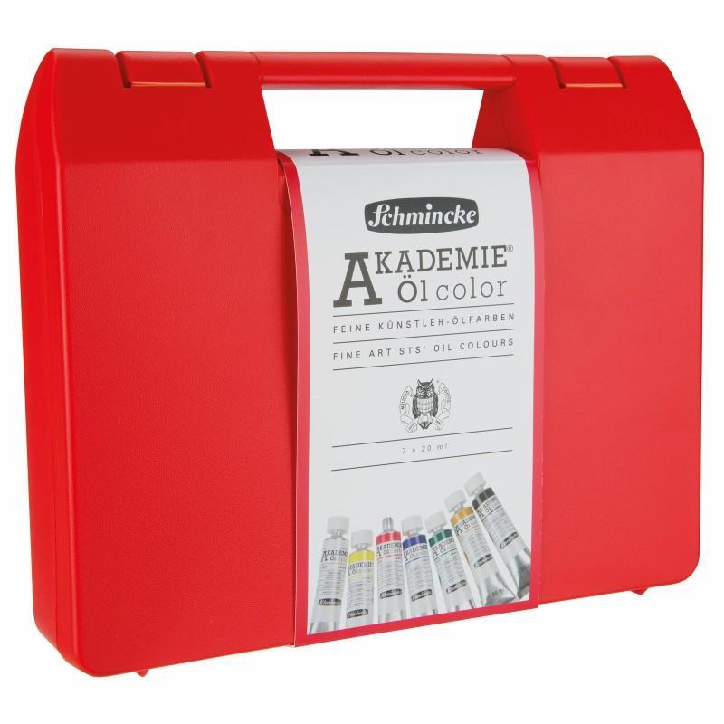 Akademie Oil Colour Red Box Set (7 x 20ml + Brush)