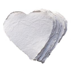 White Paper Hearts (Pack of 20)