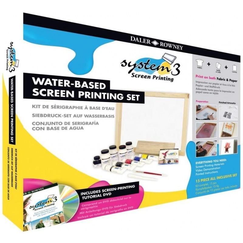System 3 Water-based Screen Printing Set