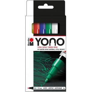 YONO Marker Set of 6 Primary Tones (Fine Bullet Nibs)