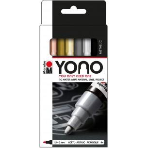 YONO Marker Set of 4 Metallic Tones (Medium Bullet Nibs)