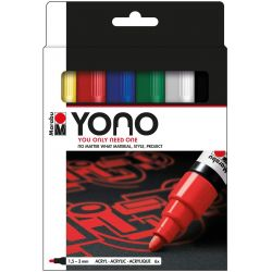 YONO Marker Set of 6 Primary Tones (Medium Bullet Nibs)