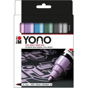 YONO Marker Set of 6 Pastel Tones (Medium Bullet Nibs)
