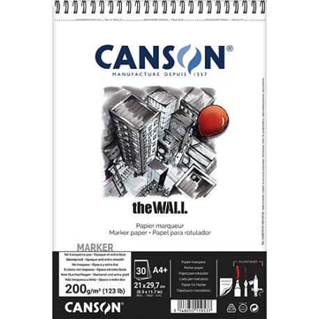 Canson The Wall A4+ Pad (220gsm)