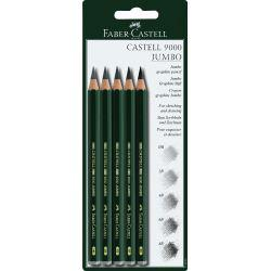 Faber-Castell 9000 Jumbo Pencil Blister Pack